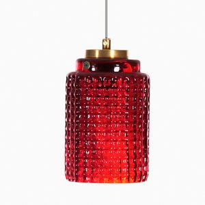Lampe à Suspension Mid-Century Moderne de Reijmyre Glasbruk AB, 1950s
