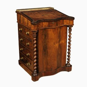 English Palisander and Mahogany Davenport Desk or Secretaire, 1870s