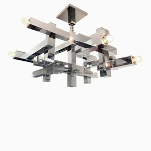 Italian Metric Chandelier by Gaetano Sciolari for Lightolier, 1960s