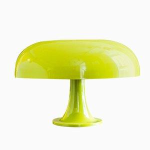 Grüne Italienische Kunststoff Tischlampe, 1970er