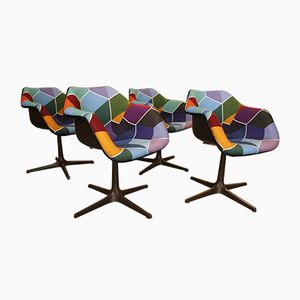 Rotating Chairs by Robin Day for Overman, Set of 4