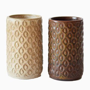 Mid-Century Scandinavian Vases by L Hjorth, 1950s, Set of 2