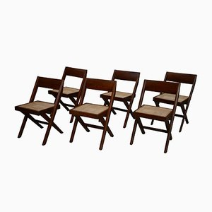 Library Chairs by Pierre Jeanneret, 1959, Set of 6