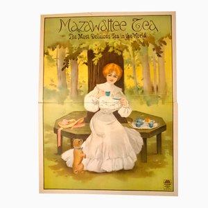 British Victorian Mazawattee Tea Two-Sheet Poster from Stafford Printers
