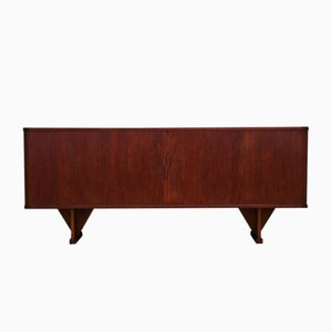 Danish Teak Sideboard with Tambour Doors by Højbjerg & Møller, 1960s