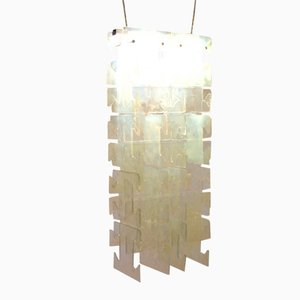Large Italian Glass Chandelier from Leucos, 1970s