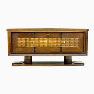 Vintage Brutalist French Sideboard by Charles Dudouyt