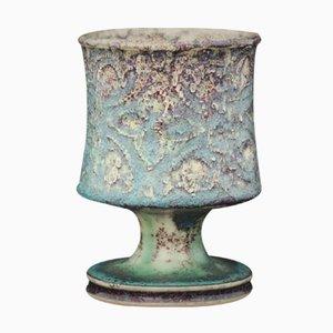 Mid-Century Incised Footed Glazed Bowl by Stig Lindberg for Gustavsberg