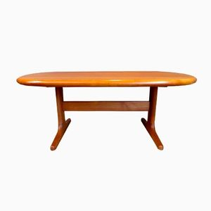 Mid-Century Solid Teak Coffee Table from Glostrup