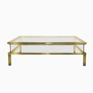 Sliding Top Coffee Table from Maison Jansen, 1980