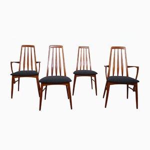 Chaises de Salon Eva par Niels Koefoed pour Koefoeds Hornslet, 1960s, Set de 4