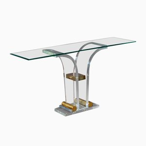 Table Console en Lucite, France, 1970s