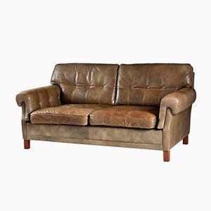 Swedish Teak & Leather Sofa from Ope Möbler, 1960s