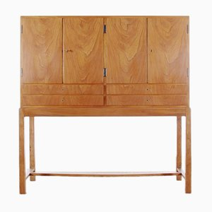 Mid-Century Scandinavian Elm and Maple Cabinet