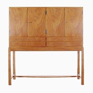 Mid-Century Scandinavian Elm and Maple Cabinet