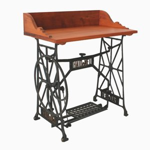 Vintage Cherrywood Sewing Table, 1930s