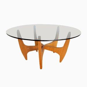 Tavolino da caffè Mid-Century in vetro fumé. Germania, anni '60