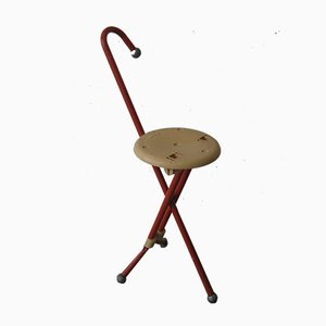 Italian Ulisse Stool / Walking Stick by Ivan Loss for Sandrigarden, 1981