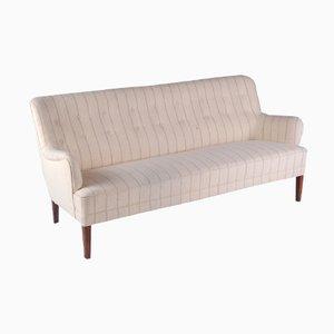 Dänisches Sofa aus Beiger Wolle von Peter Hvidt für Fritz Hansen, 1950er