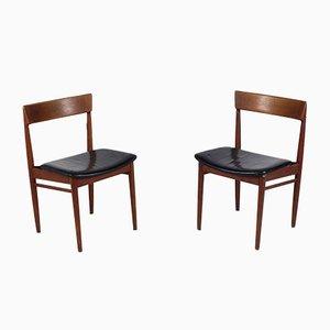 Dänische Teak Beistellstühle von Henry Rosengren für Brande Møbelindustri, 1960er, 2er Set