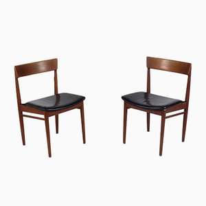 Danish Teak Side Chairs by Henry Rosengren for Brande Møbelindustri, 1960s, Set of 2