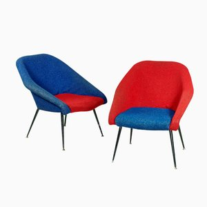German Köln Easy Chairs from VEB, 1960s, Set of 2