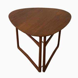 Table Pliante Triangulaire par Peter Hvidt & Orla Mølgaard-Nielsen pour France & Daverkosen, Danemark, 1950s