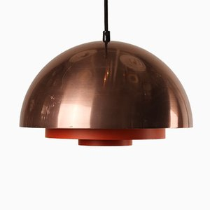 Danish Milieu Copper Lamp by Jo Hammerborg for Lyfa, 1970s