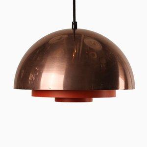Lámpara de cobre Milieu danesa de Jo Hammerborg para Lyfa, años 70