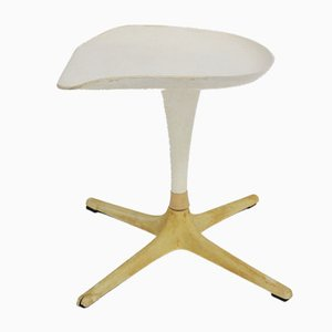 White Stool by Luigi Colani for Lusch, 1970s
