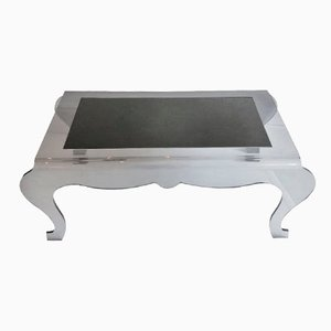 French Rectangular Smoked Perspex Coffee Table
