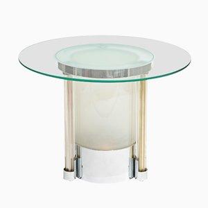 Tavolino vintage Art Déco con luce