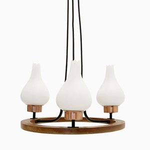 Scandinavian Three-Armed Chandelier, 1960s