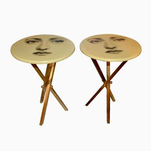 Side Tables by Piero Fornasetti, 1980, Set of 2