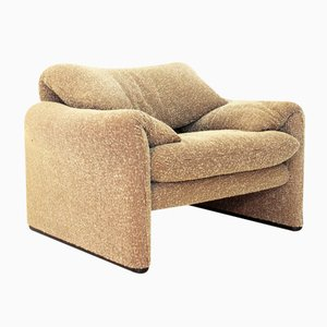 Italian 675 Maralunga Armchair by Vico Magistretti for Cassina, 1973