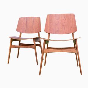 Danish Shell Chairs by Børge Mogensen for Søborg Møbelfabrik, 1950s, Set of 2