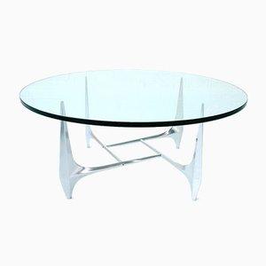 Tavolino da caffè scultoreo in alluminio di Knut Hesterberg per Ronald Schmitt, Germania, anni '70