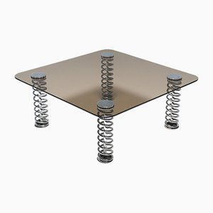 Mid-Century Coffee Table with Chrome Springs, 1970s
