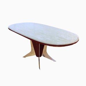 Italienischer Ovaler Esstisch, 1950er