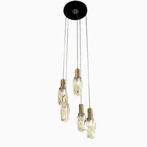 Lámpara de araña italiana de Gaetano Missaglia, años 70