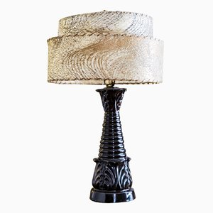 Vintage Black Ceramic Table Lamp