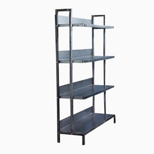Industrial Polished Steel Shelving Unit, 1960s