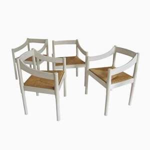 Carimate Chairs by Vico Magistretti, Set of 4