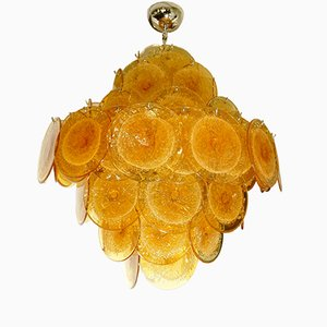 Italian Disc Chandelier from Vistosi, 1960s