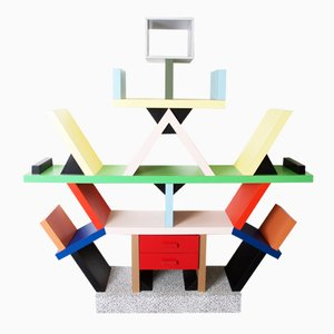 Italian Carlton Bookcase by Ettore Sottsass for Memphis, 1981