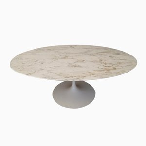 American Calacatta Marble Coffee Table by Eero Saarinen for Knoll, 1980s