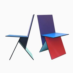 Vilbert Chairs by Verner Panton for Ikea, 1993, Set of 2