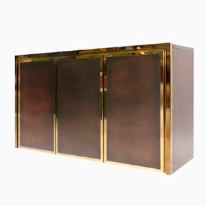 French Brass Credenza by Maison Jansen, 1980s