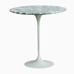 Italian Arabescato Marble Pedestal Table by Eero Saarinen for Knoll, 1970