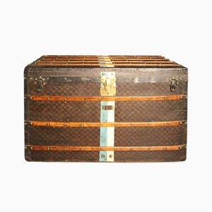 French Checkered Monogram Steamer Trunk from Louis Vuitton